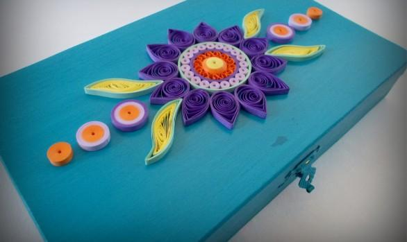 Flower Wooden Shallow Box