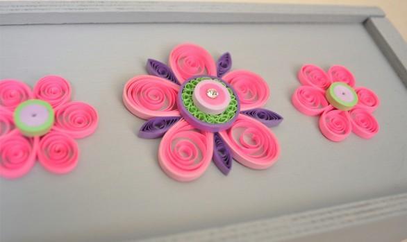 Κουτί με Ροζ Άνθη