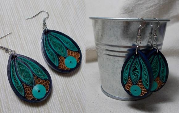 Quilled Paper Earrings | Abstract Drops