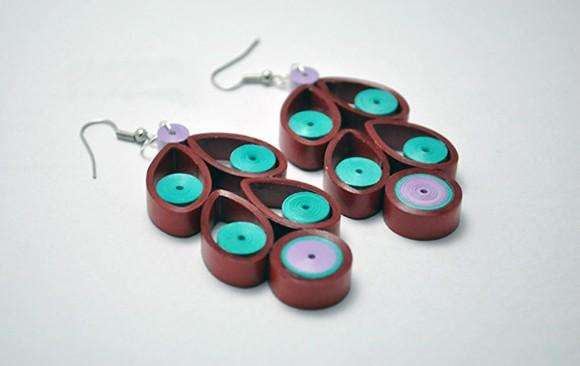 Quilled Paper Earrings | Cherries