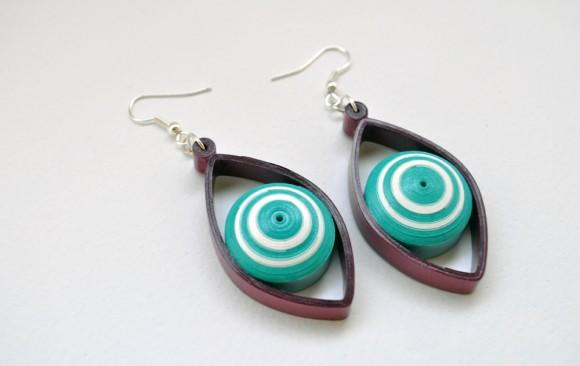 Quilled Paper Earrings | Domed Eyes