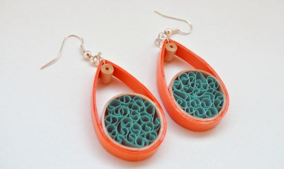 Quilled Paper Earrings | Drops