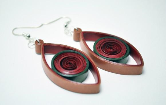 Quilled Paper Earrings | Eyes