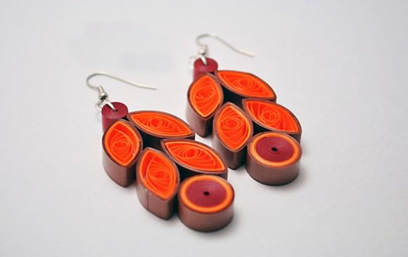 Quilled Paper Earrings | Feathers