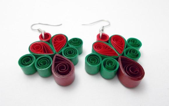 Quilled Paper Earrings | Trees