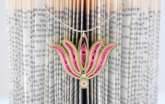 Quilled Paper Pendant | Lotus