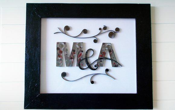 M&A Quilled Logo