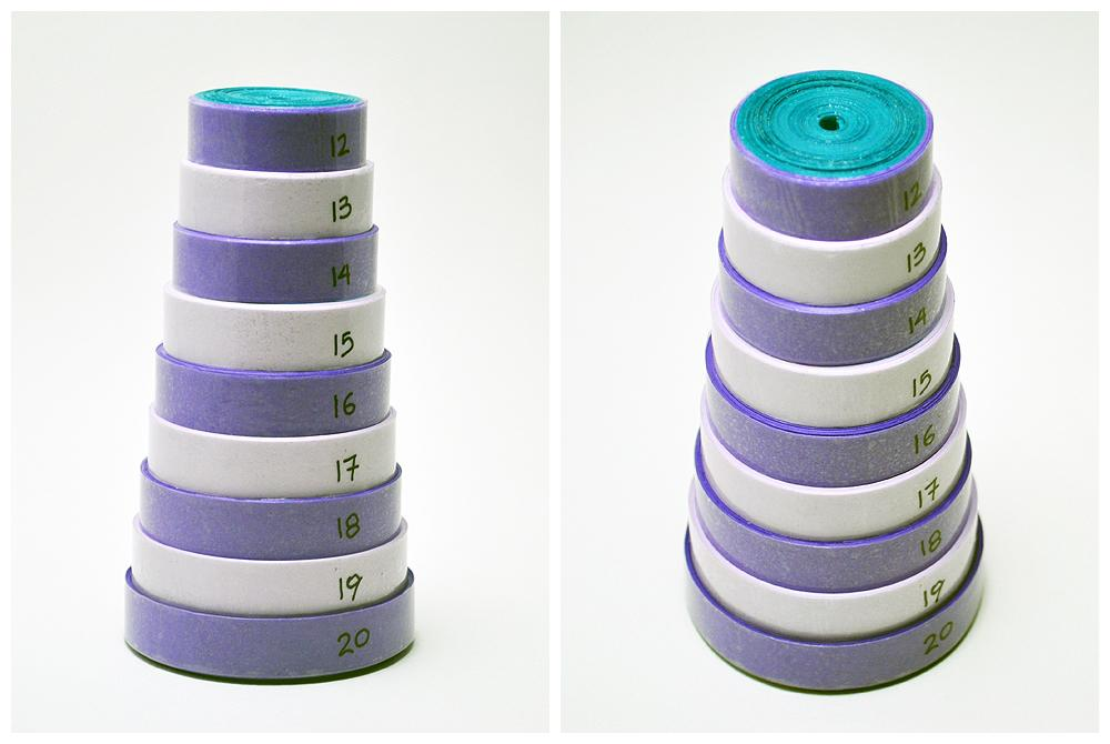 Stacked Quilling Form