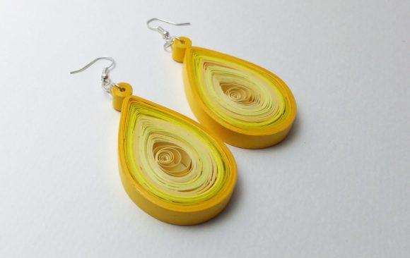 Quilled Paper Earrings | Sunshine Drops