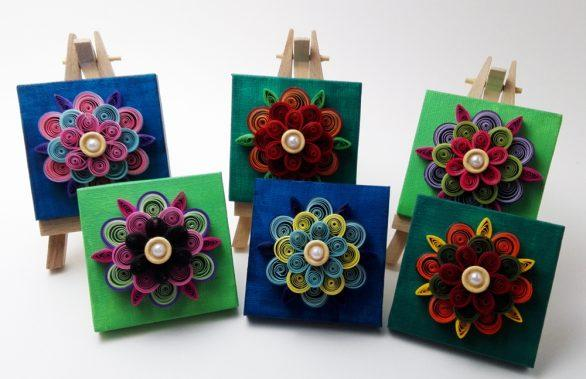 Small Canvas Flower