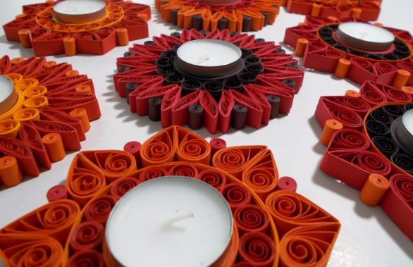 Quilled Tealight Candle Holders | Joy Edition