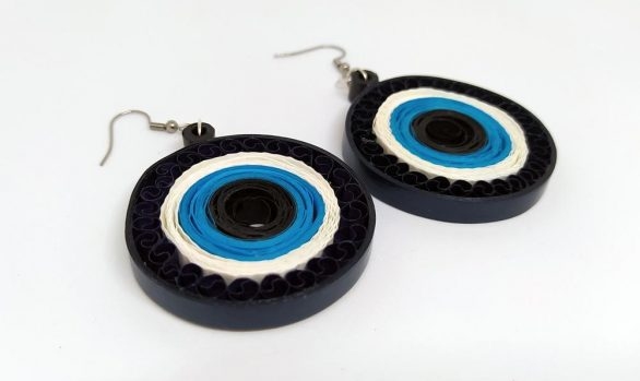 Quilled Paper Earrings | Evil Eyes
