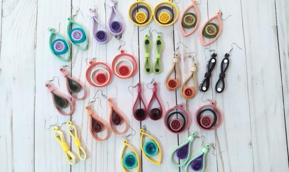 Quilled Paper Earrings | Limited Edition Patterned Paper
